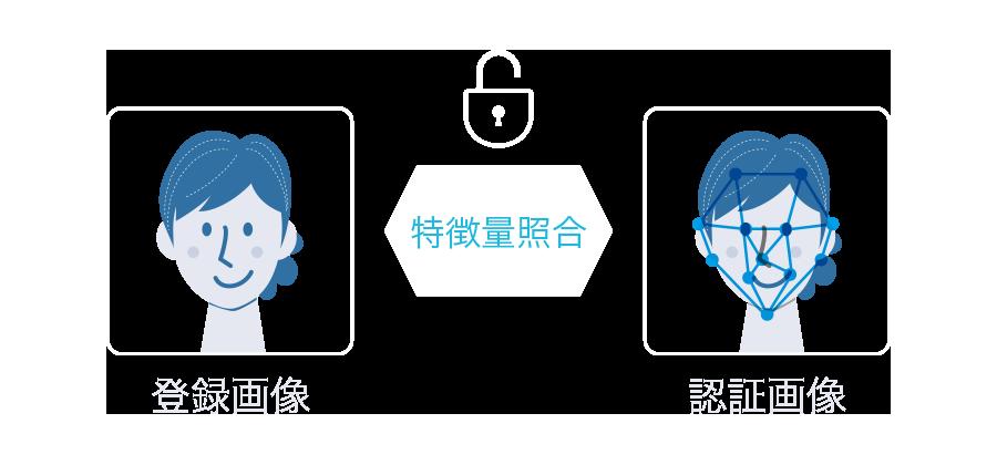 登録画像 認証画像 照合